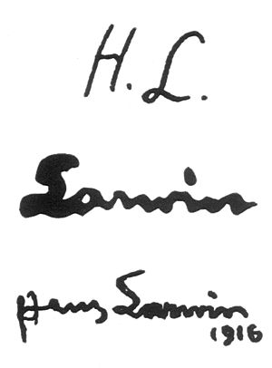 Hans Larwin - Image: Hans Larwin Signaturen