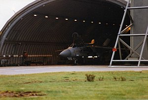 Leuchars Station - Tornado F3 on standby in hangar