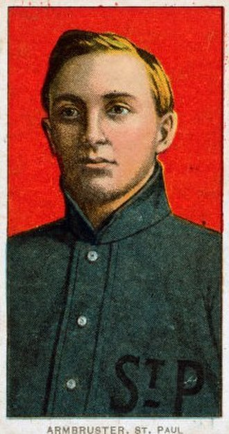 Harry Armbruster - A 1909 baseball card of Armbruster.
