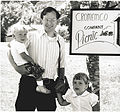 Harry Garland with his children at Cromemco Picnic (1979).jpg