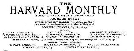 Harvard Monthly vol 56