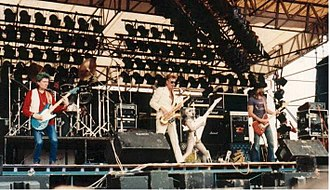 Hawkwind - Hawkwind playing at the Monsters of Rock festival in Donington Park in 1982