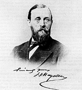 Ferdinand V. Hayden (1829-1887) American geologist who convinced Congress to make Yellowstone a national park in 1872. Hayden.JPG