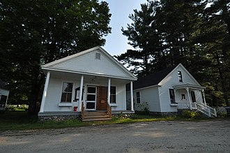 Hebron, New Hampshire - Image: Hebron NH Town Hall And Library
