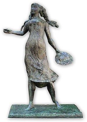 Das Käthchen von Heilbronn - Käthchen Fountain Figurine (1965) by Dieter Läpple in Heilbronn