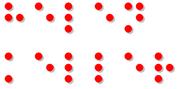 Il nome di Helen Keller in braille.