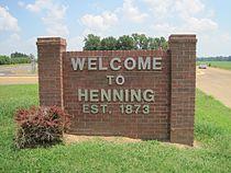 Henning TN welcome sign US51 02.jpg