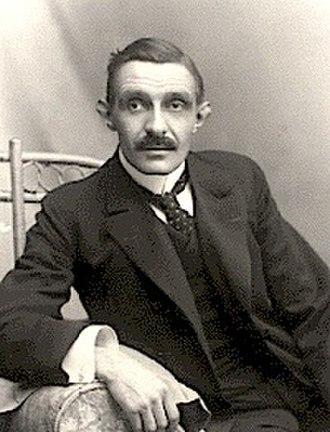 Herman Bang - Image: Herman Bang sitting