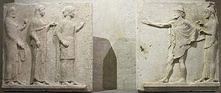 Ερμής Αγοραίος και Χάριτες (Μουσείο του Λούβρου, αρ. Ma 696 B, Ma 696 C)