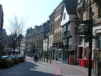 High Street, Newport, Wales - High Street, Newport (2005), looking south