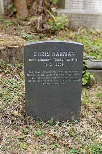 Chris Harman - Harman's grave in Highgate Cemetery