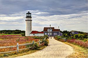 Highland Light - Image: Highland Light North Truro MA IMG 7354 5 6 fused fusion Natural Tweaked CLEANED 3 NO AC