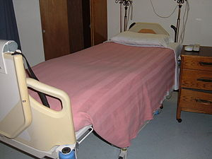 A Hill-Rom hospital bed