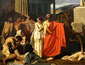 Eugène Ernest Hillemacher - Oedipus in Thebes