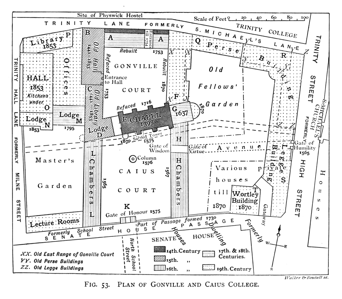file historical plan of gonville and caius college