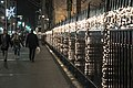 Holiday lights on Trinity Church fence. (37867563485).jpg