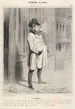 Paris under Louis-Philippe - A Bohemian of Paris, by Honoré Daumier (1842)