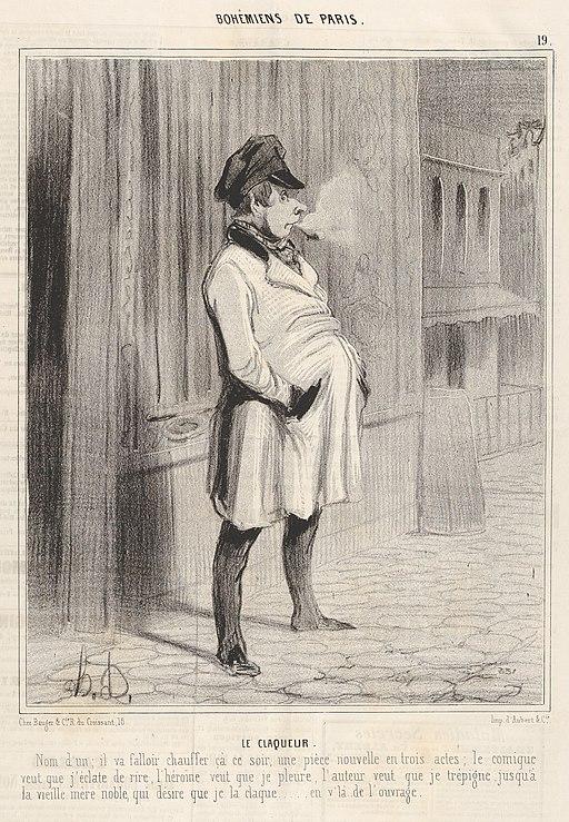 Honoré Daumier, Bohémiens de Paris - Le claqueur, 1842