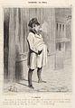 Honoré Daumier, Bohémiens de Paris - Le claqueur, 1842.jpg
