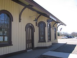 The former depot that served the junction of ND&C, NY&NE, and DCR for which the community was named