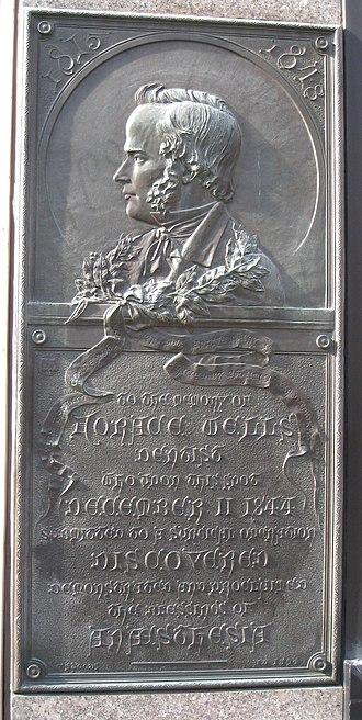 Horace Wells - Image: Horace Wells plaque Hartford, CT