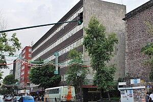 Hospital de Jesús Nazareno - Modernist façade of the Hospital