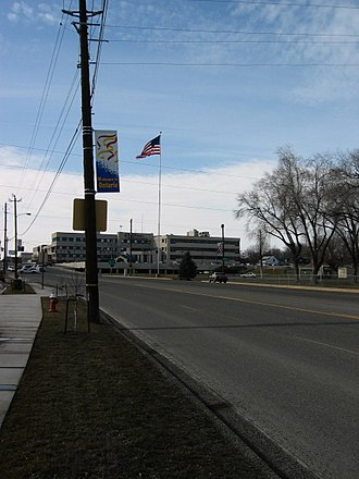 Ontario, Oregon - Southwest 4th Avenue overlooking Holy Rosary Medical Center