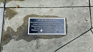 Howard's Way (sculpture) - Plaque for the sculpture