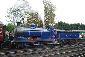 Caledonian Railway 812 and 652 Classes - Preserved No. 828 in beautiful CR lined blue livery at Bridgnorth on the Severn Valley Railway