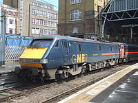 "91101 ""City of London"" at King's Cross in July 2007."