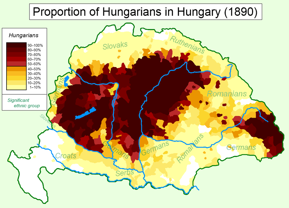 Hungarians in Hungary (1890)