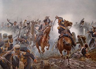 10th (Magdeburg) Hussars - Prussian hussars in the Battle of Leipzig, 1813.