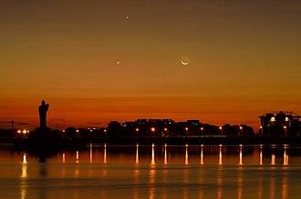 Hussain Sagar - Image: Hussain Sagar Moon Rise