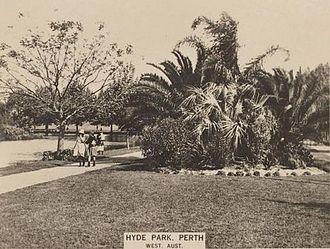 Hyde Park, Perth - Hyde Park, 1925