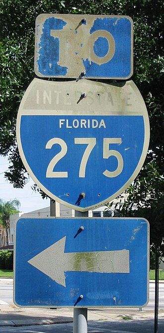 Interstate 275 (Florida) - Old I-275 shield in St. Petersburg