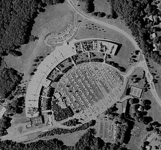 Thomas J. Watson Research Center - Satellite view of the main building
