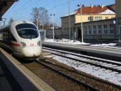 ICE between Zürich and Stuttgart in Tuttlingen