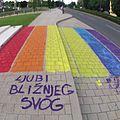 IDAHO 2015 Zagreb HBK rainbow sidewalk 2.jpg