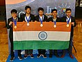 IPhO-2019 07-14 team India medals.jpg
