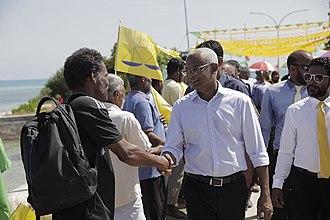 Ibrahim Mohamed Solih - Image: Ibrahim Mohamed Solih Maldives 2