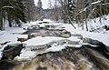 Ice and snow formations on Nukarinkoski rapids, Nurmijärvi, Finland, 2021 February - 2.jpg