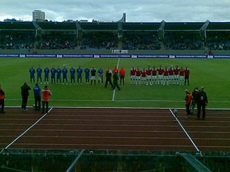 Iceland national football team - A friendly match between Iceland and Slovakia, at the Laugardalsvöllur in Reykjavík, Iceland