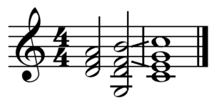 Dominant (music) - Image: Ii V I turnaround in C