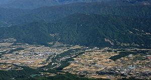 Iijima, Nagano - Iijima from Mount Eboshi