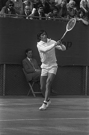 Ilie Năstase - Năstase playing a Davis Cup match against the Netherlands in The Hague (1973)