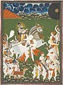 India; Rajasthan, Mewar, Udaipur; Attributed to Ghasi - Maharana Bhim Singh in Procession - Google Art Project.jpg