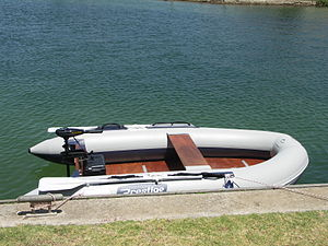 Inflatable - An inflatable boat.