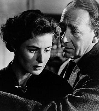 Mathias Wieman - Studio publicity photo of Ingrid Bergman with Mathias Wieman in Fear, 1954