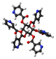 Inositol nicotinate molecule ball.png