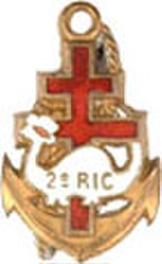 2nd Marine Infantry Regiment - Regimental Insignia of the 2nd Colonial Infantry Regiment, 2e RIC.